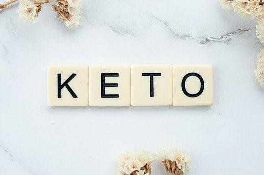 napis KETO odnoszący sie do wpisu blogowego o diecie KETO